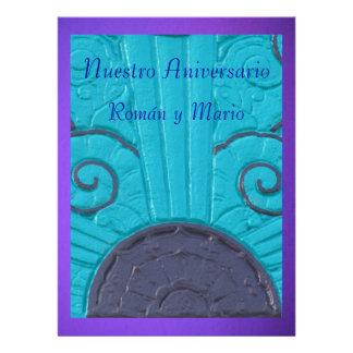 Púrpura de Invitación - de Nuestro Aniversario - d Convites