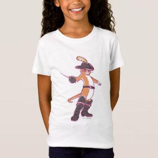 Puss na ilustração das botas camisetas