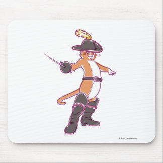 Puss na ilustração das botas mousepads