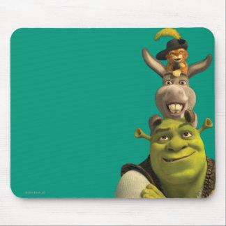 Puss nas botas, asno, e Shrek Mouse Pad
