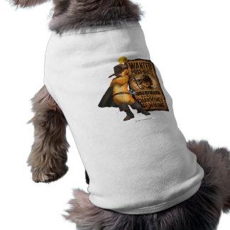 Puss querido nas botas (carvão animal) camisa sem mangas para cachorro
