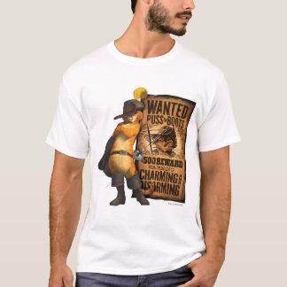 Puss querido nas botas (carvão animal) t-shirt