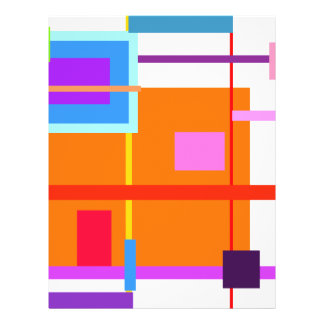 Quadrado alaranjado panfleto coloridos