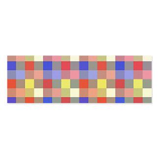 Quadrado colorido do vintage. Teste padrão Cartoes De Visitas