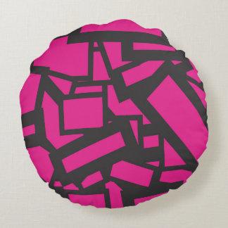quadrado cor-de-rosa almofada redonda