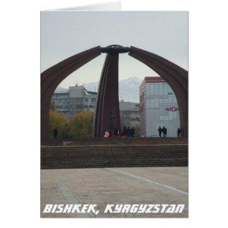 Quadrado da vitória - Bishkek, Quirguistão Cartão