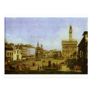 Quadrado de Signoria em Florença por Bernardo Cartão Postal