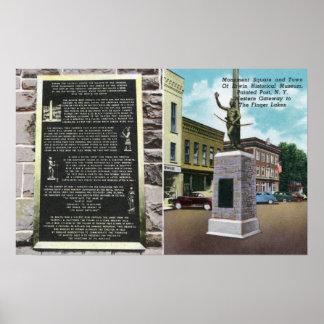 Quadrado do monumento e museu histórico de Erwin Posters