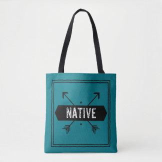 Quadrado nativo com setas bolsa tote