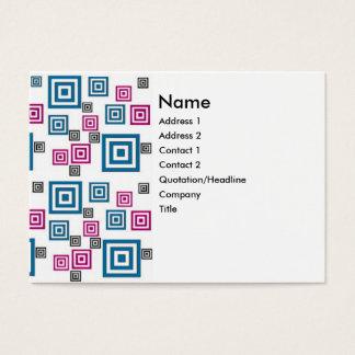 Quadrados abstratos cartão de visitas