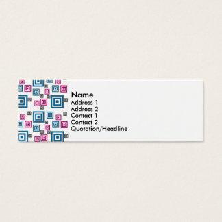 Quadrados abstratos cartão de visitas mini