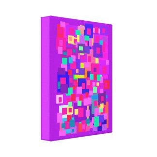 Quadrados aglomerados roxos impressão em tela canvas