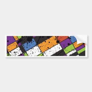 Quadrados coloridos do grunge adesivo para carro