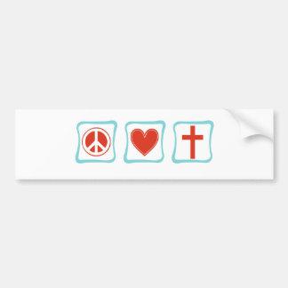 Quadrados da cristandade do amor da paz