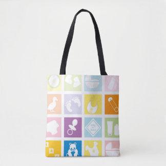 Quadrados do bebê bolsas tote