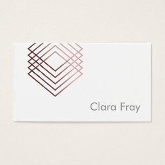 quadrados geométricos cor-de-rosa claros elegantes cartão de visitas