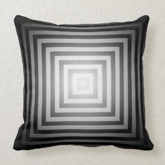 Quadrados preto e branco do brilho travesseiro