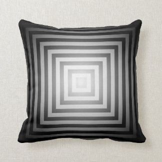 Quadrados preto e branco do brilho travesseiro de decoração