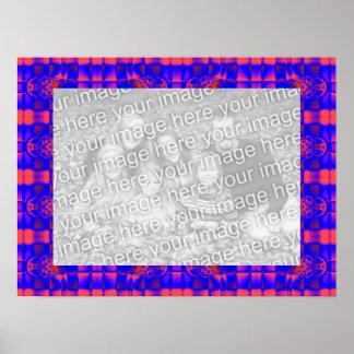 quadro azul da foto do destino impressão