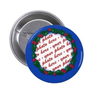 Quadro azul do azevinho para sua foto do Natal! Boton