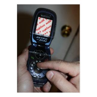 Quadro celular da foto do Retro-Telefone do Cartão De Visita Grande