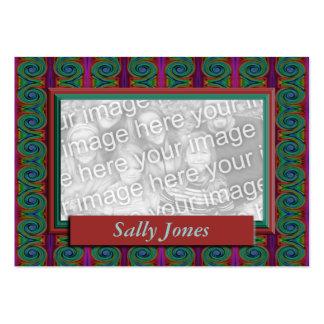 Quadro colorido da foto cartão de visita grande