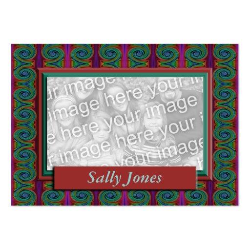 Quadro colorido da foto cartões de visitas
