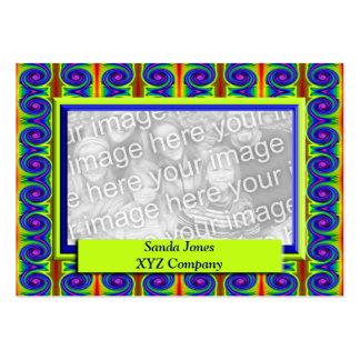Quadro colorido da foto das ondas cartão de visita grande