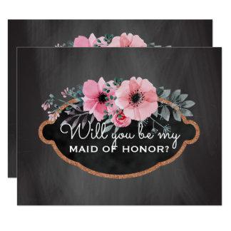 Quadro da madrinha de casamento do pedido | da convite 10.79 x 13.97cm