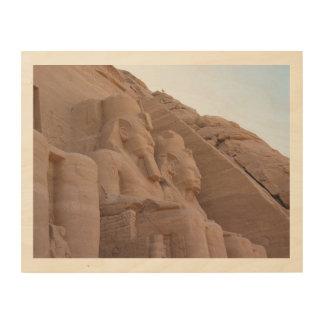 Quadro De Madeira Arte da parede de Abu Simbel Egipto antigo