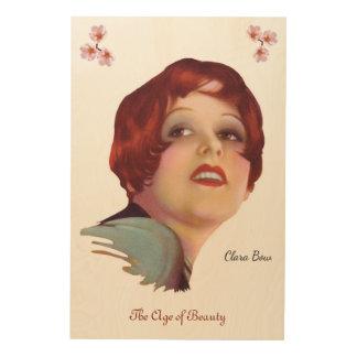 Quadro De Madeira Clara Bow