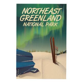 Quadro De Madeira Poster de viagens do nordeste de Greenland