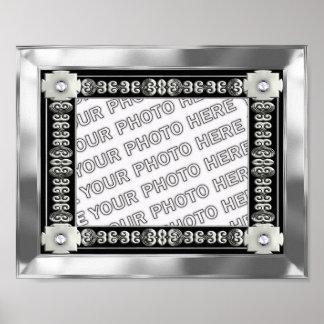 Quadro de prata da foto da esteira impressão