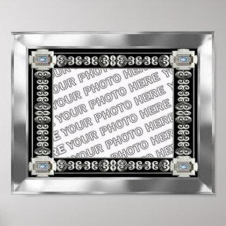 Quadro de prata da foto da esteira posteres