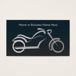 Quadro de prata legal da motocicleta - oficina de cartão de visitas
