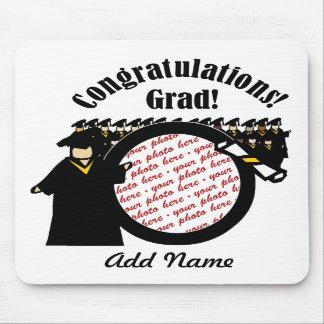 Quadro de recepção graduado da foto do diploma (2) mousepad