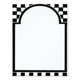 Quadro do art deco, quadrados convite 10.79 x 13.97cm