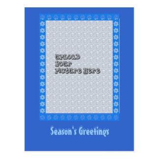 Quadro do floco de neve cartão postal