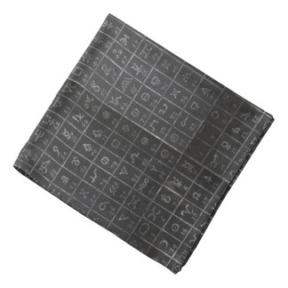 Quadro do quadro-negro dos símbolos da alquimia do bandana