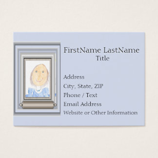 Quadro e esteira criativos para sua obra-prima cartão de visitas