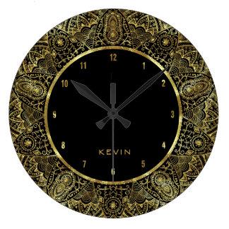 Quadro elegante do círculo do laço de Ornante do Relógio Grande