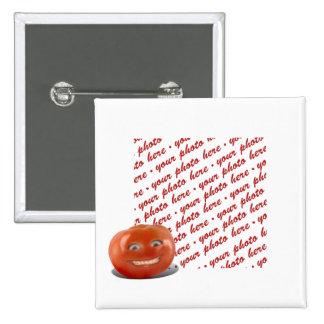 Quadro feliz de sorriso da foto do tomate botons