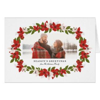 Quadro floral cartão dobrado da foto do feriado