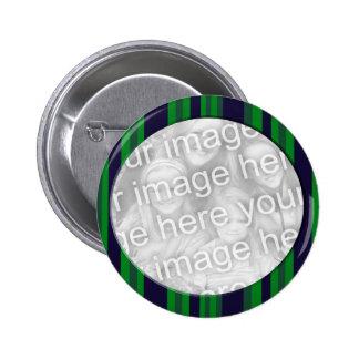 Quadro listrado azul e verde da foto pins