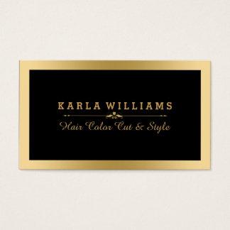 Quadro & preto claros modernos do ouro de cartão de visitas