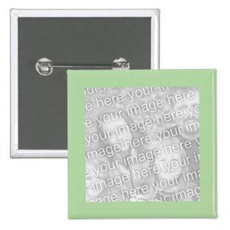 quadro verde simples da foto bóton quadrado 5.08cm