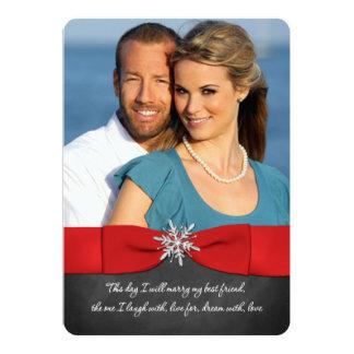 Quadro, vermelho, convite de casamento de prata