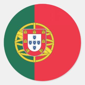 Qualidade portuguesa da bandeira adesivo