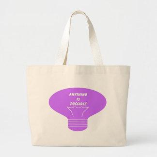 Qualquer coisa é possível bolsa de lona