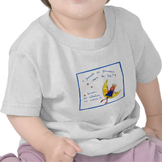 Quando do criança E do t-shirt como o lua da Dinam